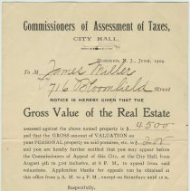 Image of 1904 assessment statement