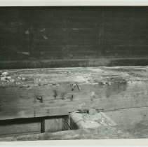 Image of Group of 4 B+W photos documenting condition of drydock no. 4 at the Bethlehem Steel Shipyard, Hoboken Division, Nov. 7, 1958. - Print, photographic