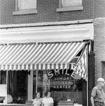 Image of B+W photo of the Smile Senior Citizen Center, 511 Washington St., Hoboken, no date (ca. 1968-72). - Print, photographic