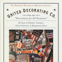 Image of Booklet: United Decorating Co., 1899-1997. Exhibition by Hoboken Historical Museum, City Hall, Hoboken, 1997. - Pamphlet