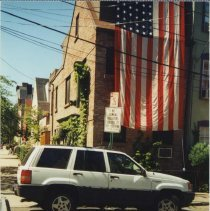 Image of Color photo of the east side of 63 Willow Terrace, Hoboken, no date, ca. 1997-99. - Print, Photographic