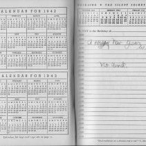 Image of Work diary for 1941 of William Craig, employee of Bethlehem Steel Shipyard, Hoboken Division. - Diary