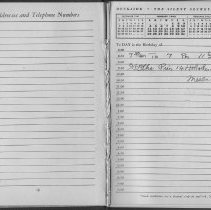 Image of Work diary for 1942 of William Craig, employee of Bethlehem Steel Shipyard, Hoboken Division. - Diary