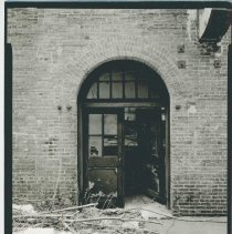 Image of B+W photo of buildings, interiors and exteriors, of the Bethlehem Steel Shipyard, Hoboken Division, no date (ca 1990.) - Print, Photographic