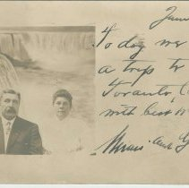 Image of Postcard to a Mrs. Emmy or Emery Stover, 1037 Bloomfield St., Hoboken, N.J, 1910. - Postcard