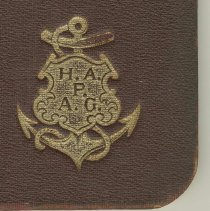 Image of detail of gilt-stamped cover