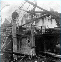 Image of damage to S.S. Main