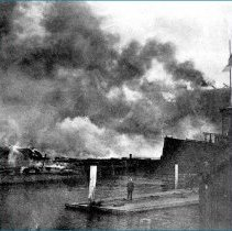 Image of piers after fire