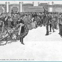 Image of postcard-funeral procession