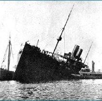 Image of S.S. Bremen sunk