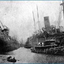 Image of Main & Bremen burning