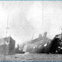 Image of Main & Bremen burning bow