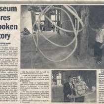 "Image of Newsclipping: ""Museum shares Hoboken history."" Jersey Journal, August 5, 2000. - Documents"