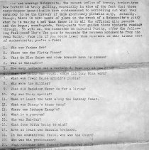Image of Three questionaires created by the Committee on Cultural Purity, Hoboken, no date, circa 1970's. - Documents