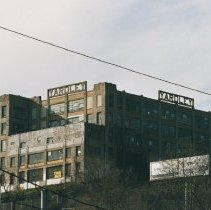 Image of Two color photos of the signs of the former Yardley Soap Company building, Union City, N.J., Jan.3 & 4, 2002. - Print, Photographic