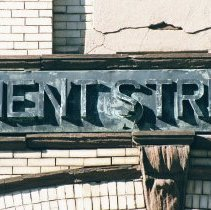 Image of Color photo wall sign, detail: Department Street Cleaning (City of Hoboken), 128 Jackson Street, Hoboken, Jan. 3 & 4, 2002. - Print, Photographic