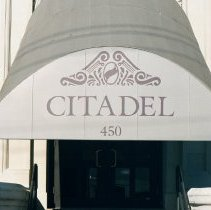 Image of Color photo of marquee sign for The Citadel, 450 Seventh St.; at School No. 8, Seventh St. between Adams & Jefferson Sts., Hoboken, Jan. 3 & 4, 2002. - Print, Photographic
