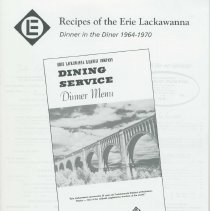 Image of Recipes of the Erie Lackawanna: Dinner in the Diner 1964-1970. - Booklet