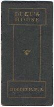 Image of Bar menu from Duke's House, Hoboken, N.J., no date, ca. 1933-40. - Menu