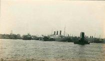 Image of Three B+W photos of the S.S. Vaterland, Hamburg-American Line, Hoboken, no date, ca. 1914. - Print, Photographic