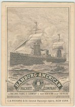 Image of Booklet of souvenir views of the Hamburg-American Packet Company, New York, no date, ca. 1890. - Souvenir
