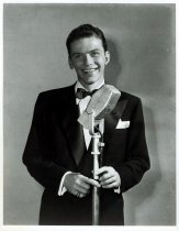 Image of Frank Sinatra at microphone