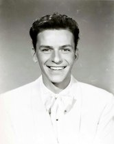 """Image of Black-and-white publicity photo of a young Frank Sinatra for MGM film """"Till the Clouds Roll By"""", no place, no date, ca. 1946. - Print, Photographic"""