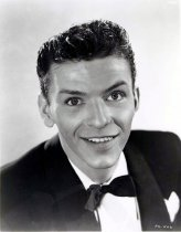 Image of Black-and-white publicity photo of a young Frank Sinatra in a black dinner jacket & bowtie, no place, no date, probably Dec., 1942 - Print, Photographic