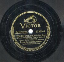 """Image of Record: """"You Lucky People You."""" Vocal by Frank Sinatra. Tommy Dorsey Orchestra. Victor Records 78 rpm. No. 27350-B. - Record, Phonograph"""
