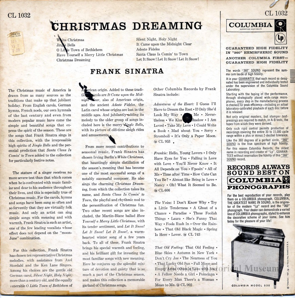 Record album, Frank Sinatra: \