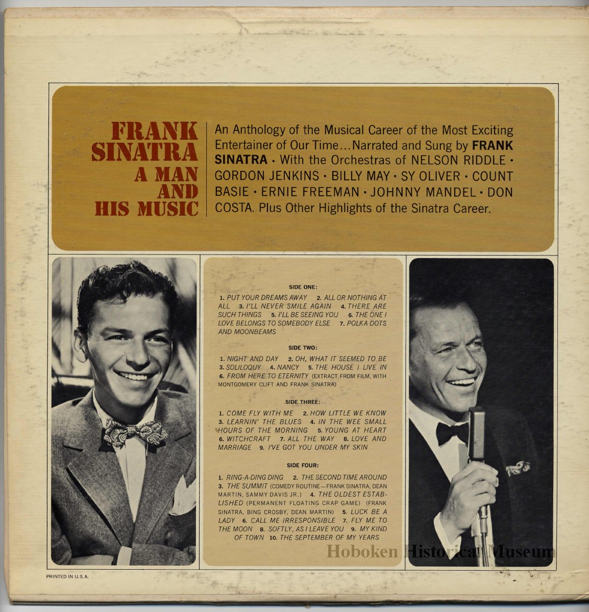 Record Album Frank Sinatra A Man And His Music Reprise Johnny 5 Bing Images Title