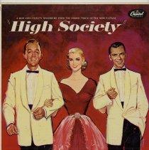 "Image of Record album, Frank Sinatra: ""High Society."" Capitol Records. 33 rpm. Hi Fi. No. W-750. - Record, Phonograph"