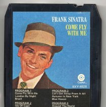 "Image of 8-Track Cartridge, Frank Sinatra : ""Come Fly With Me."" Capitol. 8XY 4528.Stereo. - Cartridge, Tape"