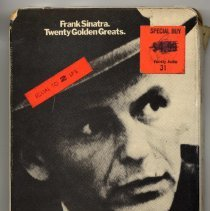 "Image of 8-Track Cartridge, Frank Sinatra : ""Twenty Golden Greats."" Capitol. 8X-EMTV 10. Stereo. - Cartridge, Tape"
