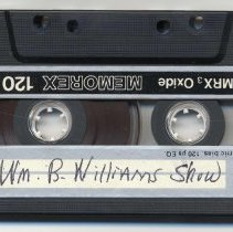 """Image of Tape Cassette, Frank Sinatra :  Non commercial recording. Titled  """" Wm. B. Williams Show."""" - Audiocassette"""