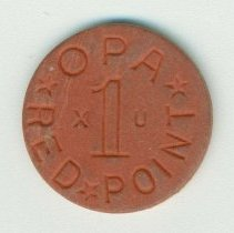 Image of typical side of ration token