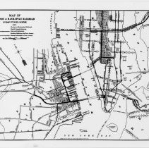 Image of Digital image of the Hudson & Manhattan Railroad and other rail transportion, circa 1908-1910. - Map