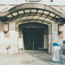 Image of Digital image of color photo with detail of the Christopher Street entrance to the PATH trains, New York, Nov. 2002. - Print, Photographic