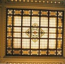Image of Digital image of color photo of the waiting room skylight  of the Hoboken Terminal, Hoboken, Nov., 1999. - Print, Photographic