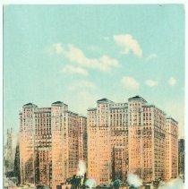 Image of Digital image of Hudson & Manhattan R.R. postcard titled: Hudson Company's Building from Hudson River. No date, ca. 1908. - Postcard