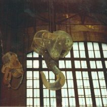 Image of Digital image of color photo of the interior of the former Hudson & Manhattan Rail Road powerhouse, Jersey City, July, 2000. - Print, Photographic