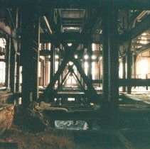 Image of Digital image of color photo of the interior of the former Hudson & Manhattan Rail Road powerhouse, Jersey City, March, 2000. - Print, Photographic