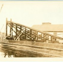 Image of Digital image of sepia-tone photo of construction work for the Central Rail Road of N.J., Jersey City, Oct. 27,1923. - Print, Photographic