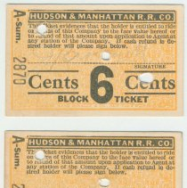 Image of front of two tickets