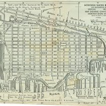 Image of Map of the Hoboken Shore Railroad, 1956. - Map