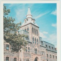 Image of Gallagher Postcard: #1. Edwin A. Stevens Hall on 5th & Hudson Street. Photo by Brian Gallagher. - Postcard