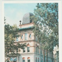 Image of Gallagher Postcard: #3. Hoboken Public Library on 5th & Park Ave. Photo by Brian Gallagher. - Postcard