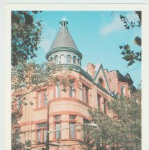 Image of Gallagher Postcard: #10. The 'Columbia' Luxury Condominium formerly German Social Club, circa 1892. Photo by Brian Gallagher. - Postcard