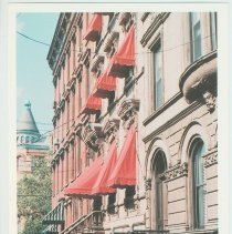 Image of Gallagher Postcard: #13. Brownstones on 10th & Bloomfield St. Photo by Brian Gallagher. - Postcard