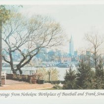 Image of Gallagher Postcard: #25. Manhattan view from Stevens Campus. Photo by Brian Gallagher. - Postcard